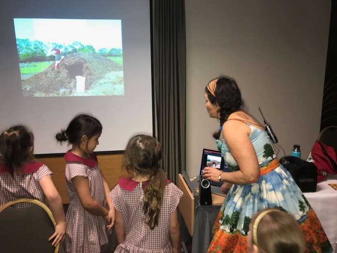 Tania hoping to inspire future composters.